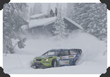 Mikko Hirvonen in snowy roads